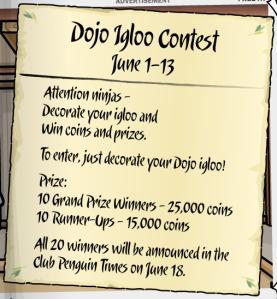 dojo igloo contest