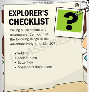 explorers checklist