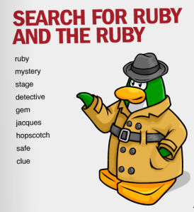 ruby and ruby word search