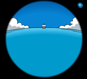 rockhopper on his way