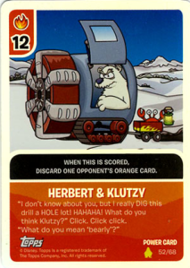 herbert and klutzy card