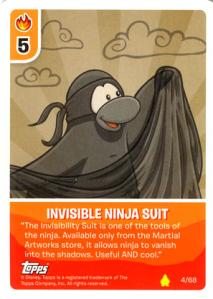 ninja suit card