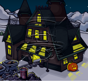 club penguin haunted house sneak peek