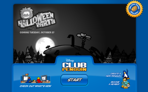 halloween party login page
