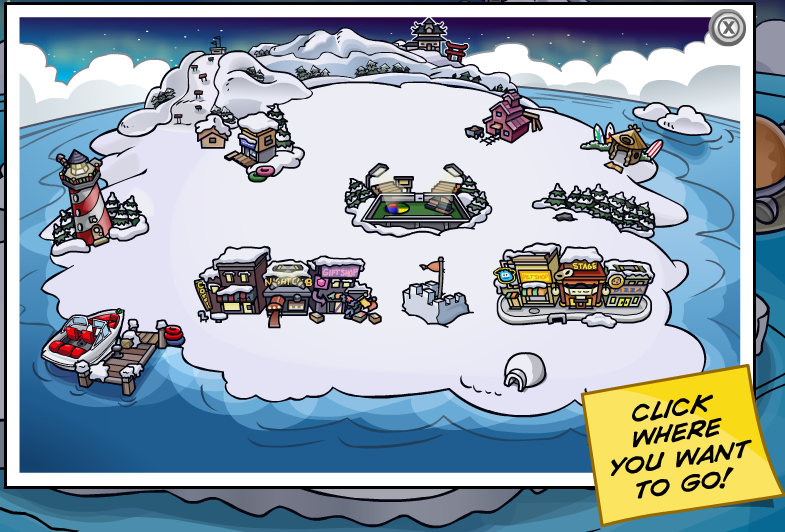 Printable club penguin map 2010 3Guys1Bike.com :: 2007 World