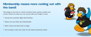 Club Penguin membership update June 2011